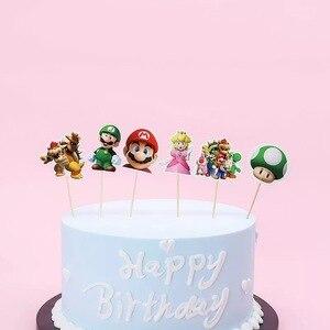720 шт Супер Марио тема торт Toppers Baby Shower Дети День рождения украшение различные мультфильмы мальчик девочка сувениры кекс Topper