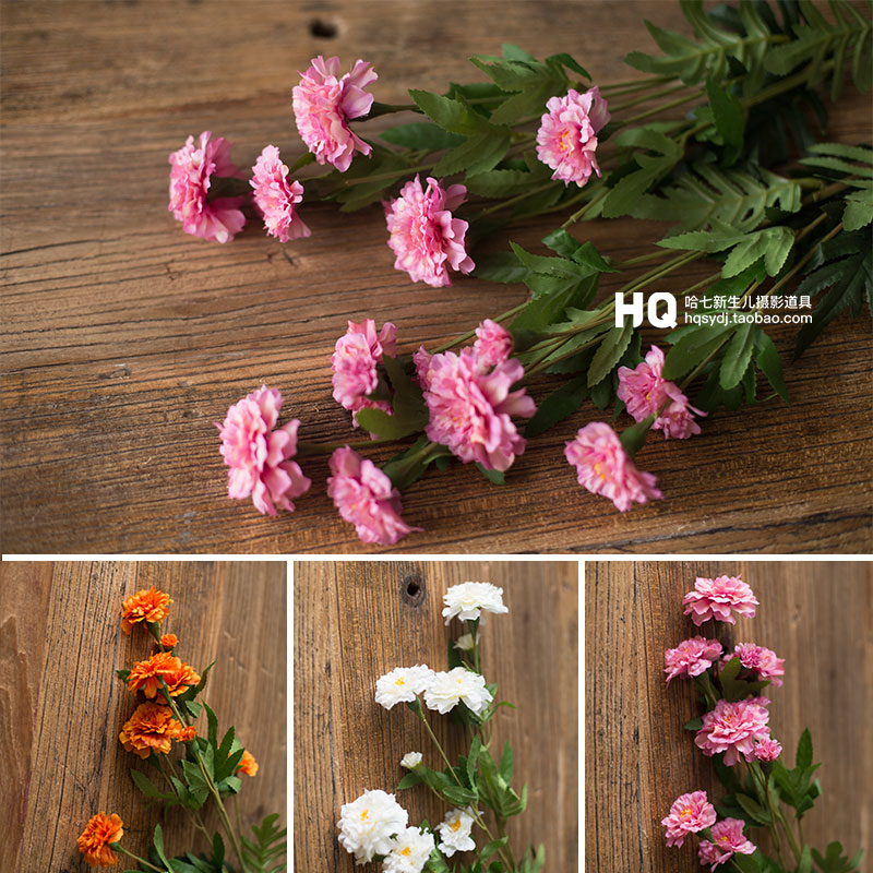Newborn Photography Artificial Flowers Baby Photoshooting Props INfant Photo Shot Studio Accessories