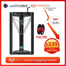 ANYCUBIC Predator 3D Printer Plus Size 370*370*455mm pre assembled Ultrabase Pro 3d drucker DIY 3D Printer Kit impresora 3d