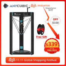 Anycubic Predator 3D Printer Plus Size 370*370*455Mm Voorgemonteerd Ultrabase Pro 3d Drucker Diy 3D Printer Kit Impresora 3d