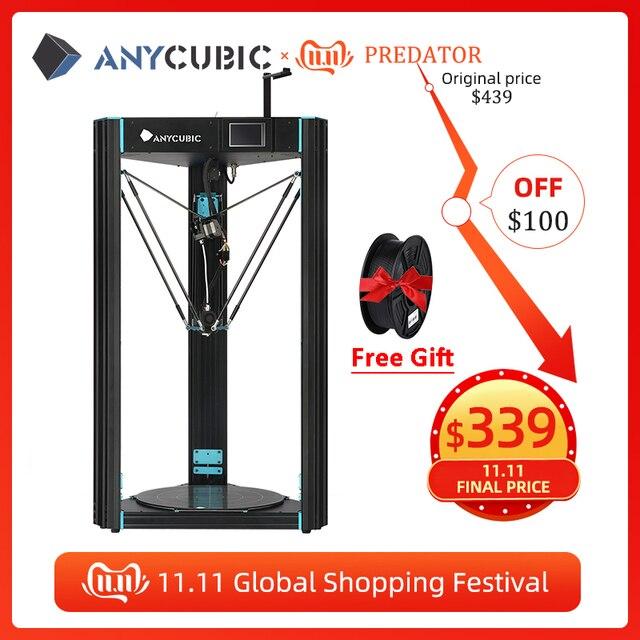 Anycubique prédateur imprimante 3D grande taille 370*370*455mm pré assemblé Ultrabase Pro 3d drucker bricolage 3D imprimante Kit impresora 3d