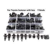 Universa für Toyota Sets Box Auto Kunststoff Bumper Fender trunk Halte Clip Schwarz Push-in Verschluss Niet