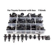 Universa for Toyota Sets Box Auto Plastic Bumper Fender trunk Retaining Clip Black Push in Fastener Rivet