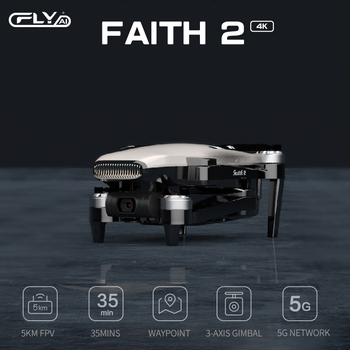 WLRC Faith 2 GPS Drone 4k Profesional 3-Axis Gimbal EIS Camera Quadcopter 35mins Flight Time 5KM FPV Transmission for New User 6