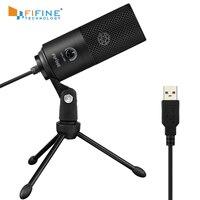 Fifine Metall USB Kondensator Aufnahme Mikrofon Für Laptop Windows Nieren Studio Aufnahme Gesang Stimme Über, YouTube-K669
