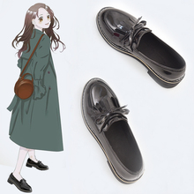 Cute Lolita Shoes Girl Women Bowknot Boots Round Toe Leather