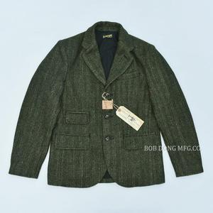 Image 1 - BOB DONG Tweed Jacket Blazer Vintage Country Striped Wool Sport Coat For Men