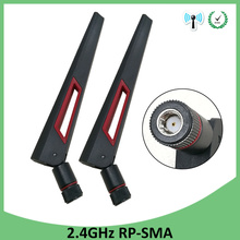 5pcs 2.4GHz 5GHz 5.8Ghz Antenna real 8dBi RP-SMA Connector Dual Band wifi Antena  SMA female wireless router 2.4 ghz 5.8