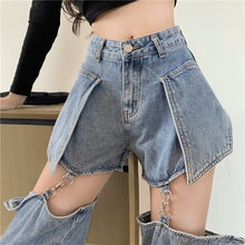 Jeans Woman Clothes for Hot Girls High Street Style straight Detachable Pants Long or Short Women's Wear Summer 2021 NEW