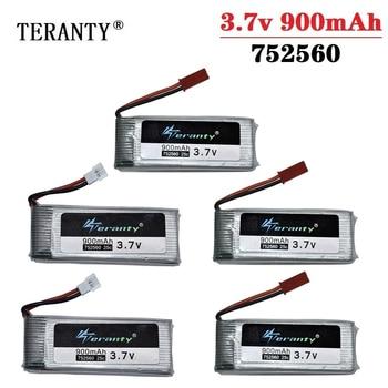Batería lipo 3,7 V 900mah Original para X5 X5C X5SC 8807 8807W A6 A6W M68, recambios de cuadrirrotor Rc 3,7 v, batería para Drones 752560