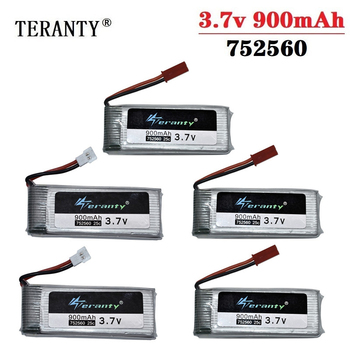 Original 3.7V 900mah lipo Battery For X5 X5C X5SC 8807 8807W A6 A6W M68 Rc Quadcopter Spare Parts 3.7v Drones battery 752560 image
