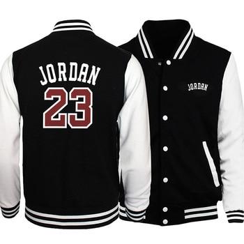Hot Sale Men Baseball Uniform Coat 2019 Autumn Bomber Jacket Jordan 23 Print Streetwear Casual Tracksuit Hip Hot Men Brand Coats