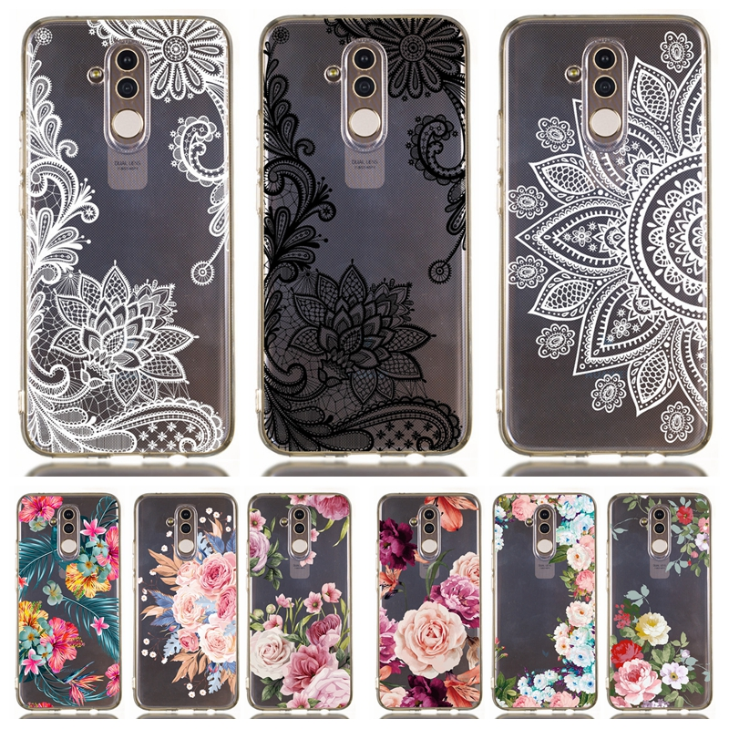 Mate 20 Lite Case on For Coque Huawei Mate 20 Lite Cases for Huawei Mate 10 Lite Funda Retro Flower Clear Soft Silicone Cases