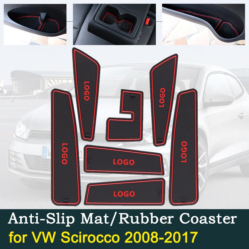 Car Door Groove Cushions Non-Slip Gate Slot Pad Auto Dust-proof Interior Mat for VW Volkswagen Polo 11-16 Regard