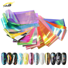 Get more info on the YALIAO Nail Art Candy Transfer Sticker 10Pcs Holographic Nail Foils Starry Paper Manicure DIY Sticker Decoration Accessories