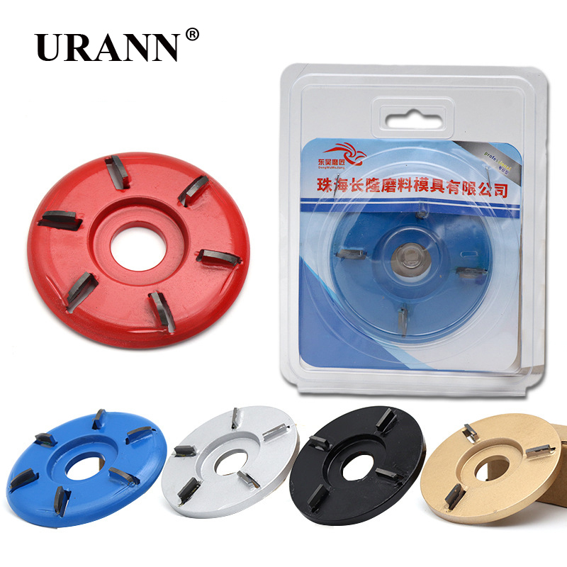 Power Wood Carving Disc Angle Grinder Woodworking Turbo Round/Plane 90x22mm Aperture Angle Grinder Attachment Milling Cutter