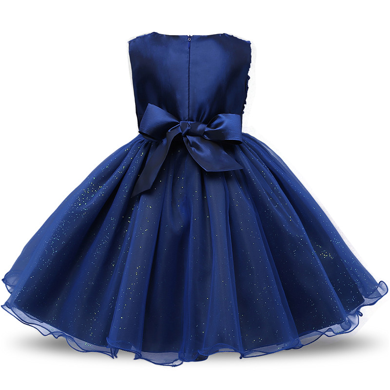H55b4926a591b4f6ebcf850953b366aebc Flower Girl Dress Formal 3-8 Years Floral Baby Girls Dresses Vestidos 9 Colors Wedding Party Children Clothes Birthday Clothing