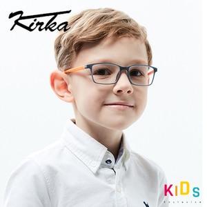 Image 2 - Kirka TR90 מסגרת משקפיים ילדים גמיש ילדים משקפיים אופטי משקפיים מסגרות כיכר משקפיים לילדים משקפיים עבור 6 10
