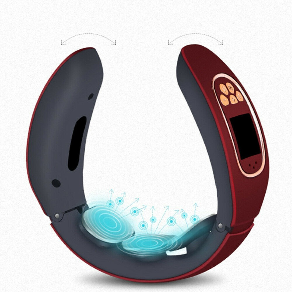 Smart Electric cervical spine massager USB rechargeable pulse massage Relaxation magnetic tool Cervical Physiotherapy