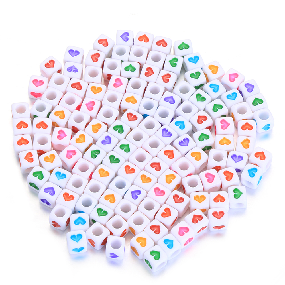 100Pcs Acrylic Cube Beads Mixed Russian Alphabet Letter For DIY Baby Teether Child Kids Craft Material Accessories