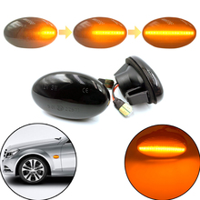 цена на 2pcs Dynamic LED Car Side Marker Lights Turn Indicator Blinker Lamp Signal For Mercedes Benz Smart W450 A-Class W415 Citan Vito