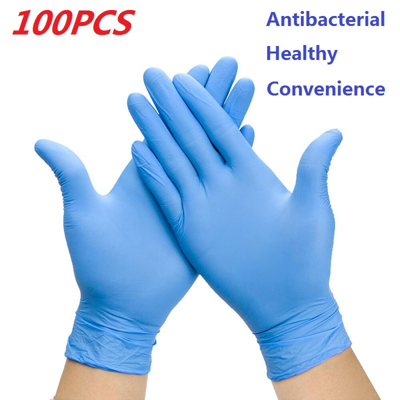50/100Pcs Disposable Latex Gloves Universal Cleaning Gloves Multifunctional Kitchen Food Cosmetic Disposable Gloves Nitrile Rubb