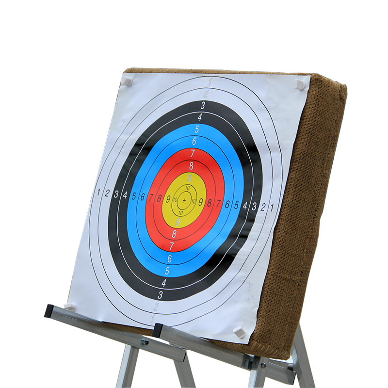 10pcs 40*40 Cm Archery Shooting Target Paper Shooting Equipment Training Paper For Bow Training Practice Game