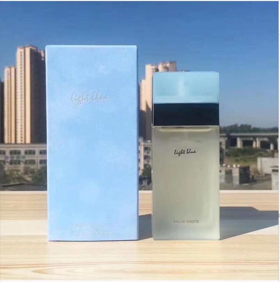 100ML Women Perfume Eau De Toillette Fragrance D&G Perfume Light Blue Parfume Floral Scent Durable Spray