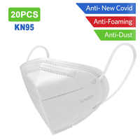 20PCS KN95 Masks Non-woven Anti Dust Mouth Face Cover Safety Protective Earloops Face Mouth mask K n95 mask Dustproof