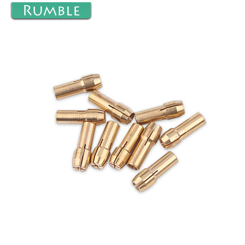 10x Brass Drill Chucks Collet Bit 0.5-3.2mm 4.8mm Shank Fits Dremel Rotary Tool