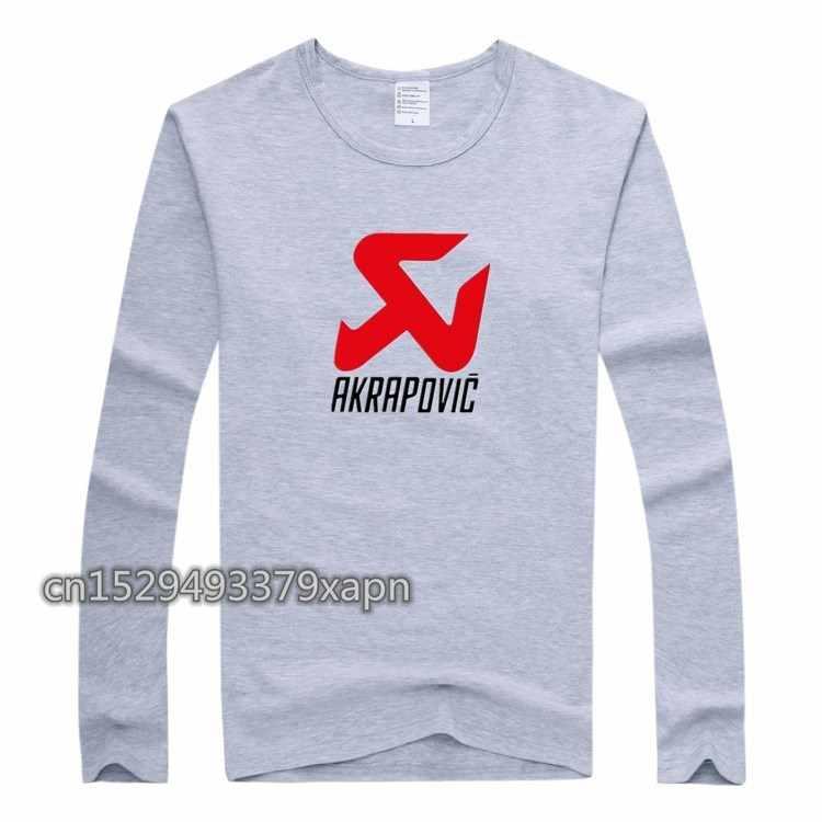 가을 패션 브랜드 슬림 피트 긴 소매 티셔츠 남자 트렌드 캐주얼 AKRAPOVIC 인쇄 망 풀오버 겨울 한국 티셔츠