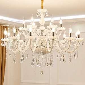 Image 3 - 현대 화이트 크리스탈 샹들리에 조명 램프 샹들리에 거실 침실 조명기구 크리스탈 빛 lustres 드 crista 조명