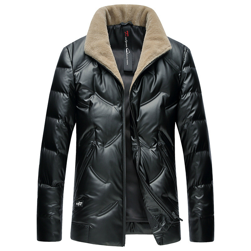 High Quality New Winter Mens Duck Down Jackets Business Casual Warm Male Brand Clothing Slim Fit Turn Collar Western Style
