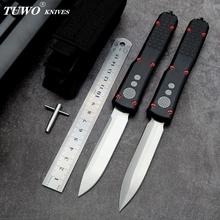 TUWO noże MICROTE OTF D2 ostrze lotnictwa uchwyt aluminiowy camping survival odkryty EDC narzędzie do polowania nóż kuchenny tanie tanio NoEnName_Null Maszyny do obróbki drewna Aviation aluminum handle Ostrze noża przesuwne
