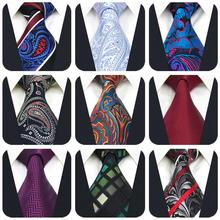 Multicolor Paisley Mens Accessories Necktie Silk Dress Party Geometric Ties for Men Wedding Colorful
