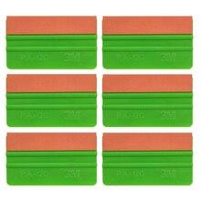 6 adet yeşil 3M vinil Film araba sarma 12.5cm süet silecek otomatik pencere tonu sarma kazıyıcı cam yıkama araçları otomatik araba temiz 6A75O