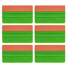 6pcs Green 3M Vinyl Film Car Wrap 12.5cm Suede Squeegee Auto Window Tint Wrapping Scrapers Glass Wash Tools Auto Car Clean 6A75O