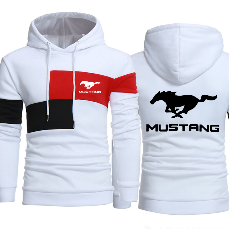 Men Hoodies Mustang Motor Car Logo Fashion Print Sweatshirt Spring Autumn Mens Hoodie Hiphop Harajuku  Casual Tracksuit