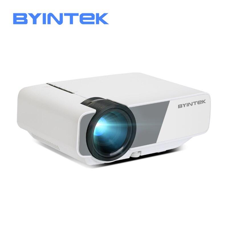 Mini Projetor BYINTEK CÉU K1/K1plus LED Portátil Home Theater HD (Opcional Com Exibição de Sincronização Para O Iphone Ipad telefone Tablet)