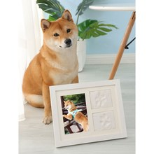 Pet Photo Frame Practical Household Pet Memorial Picture Frame Kit Dog Cat Paw Print Memorial Album(China)