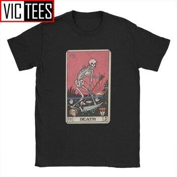 Camiseta de tarot de la muerte para los hombres 100 camisetas de algodón de alta calidad grandes arcanos Halloween Spooky esqueleto Creepy camiseta Europa