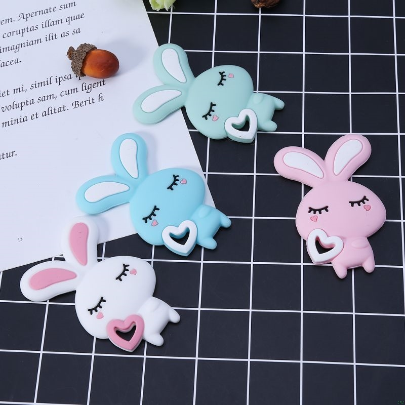 Child Baby Pacifier Teether Soothing Boys Girls Cute Bunny Colorful Design Kids Comfort Supplies