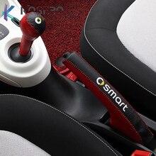 Colliers de changement de vitesse pour voiture, étui en cuir, accessoires de Modification pour nouveau smart fortwo 453, poignées de frein à main pour voiture, style