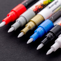 18 Kleur Acryl Verf Marker Pennen Art Supplies 0.7Mm Waterbasis Graffiti Pen Set Creatieve Diy Tekening Markers voor Keramische Rock