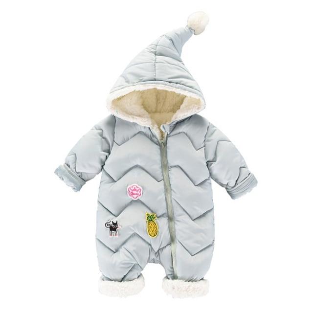 -30 درجة جديد الشتاء وزرة للأطفال معطف الطفل الثلوج ارتداء الوليد سنوسويت الصبي الدافئة أسفل القطن فتاة الملابس ارتداءها 0-18 متر 2