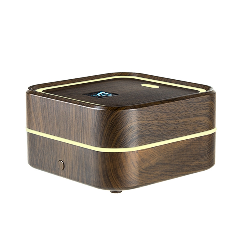 USB Air Humidifier Ultrasonic Aroma Essential Oil Diffuser Cool Mist Humidifier with Color Night Light Mist Maker Deep Wood|Humidifiers| |  - title=