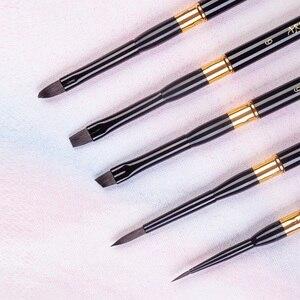 Высококачественные кисти SQ645 для путешествий с белкой, набор кистей для рисования, художественные кисти для рисования, 5 шт./компл., для рисов...