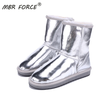 MBR FORCE Winter 2020 classic snow boots ladies cowhide sued