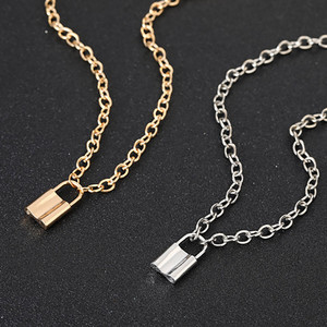 Fashion Multi Layer Lover Lock Pendant Choker Necklace Steampunk Padlock Heart Chain Necklace Collier Best Couple Jewelry Gift