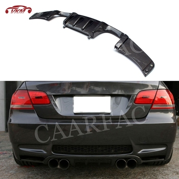 For E92 Rear Lip Diffuser Spoiler for BMW 3 Series E92 M3 2008-2013 Carbon fiber / FRP Bumper Guard HM Style Direct installation image